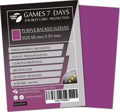 Протекторы Games7Days (66 х 91 мм / 63.5x88 мм) Purple Premium MTG (80 шт)