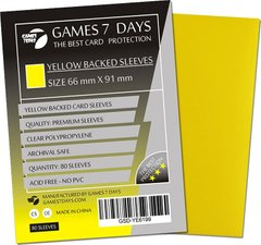Протекторы Games7Days (66 х 91 мм / 63.5x88 мм) Yellow Premium MTG (80 шт)