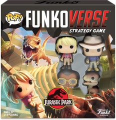 Funkoverse Strategy Game: Jurassic Park #100 4-Pack